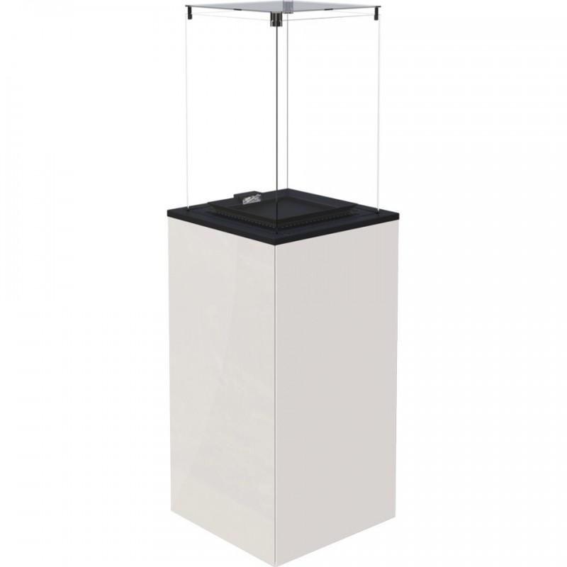Газовый печь Kratki PATIO MINI/M/G31/37MBAR/B - белое стекло, с ручным управлением