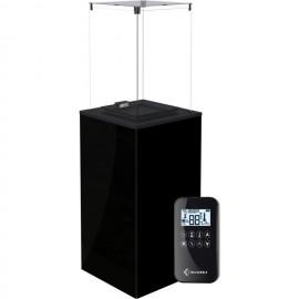 Газовый печь Kratki PATIO MINI/G31/37MBAR/CZ - черное стекло, с пультом ДУ