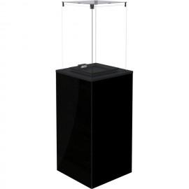 Газовый печь Kratki PATIO MINI/M/G31/37MBAR/CZ - черное стекло, с ручным управлением